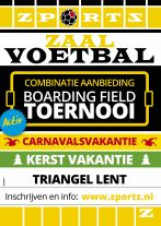 Combinatie korting Kerst 2019 en carnaval 2020 Boarding Field Toernooi in de Triangel Lent
