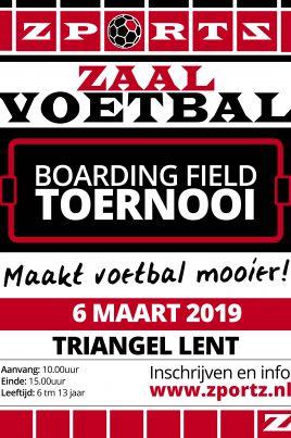Indoor Boarding Field Toernooi Triangel Lent 2019 Voetbalschool Leden + introducé