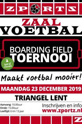 Indoor Boarding Field Toernooi 23 December 2019 Triangel Lent Maakt voetbal mooier!