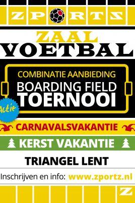 Combinatie Indoor Boarding Field Toernooi 23 December 2019 + 26 februari 2020 Triangel Lent