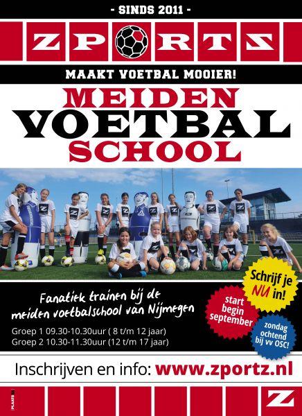 15 Lessen de Nijmeegse meiden voetbalschool seizoen 2021-2022 op zondagochtend bij vv OSC