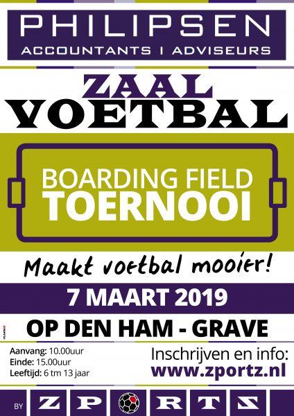 Philipsen Accountants Adviseurs Boarding Field Toernooi Grave 2019 Voetbalschool leden + Introducé
